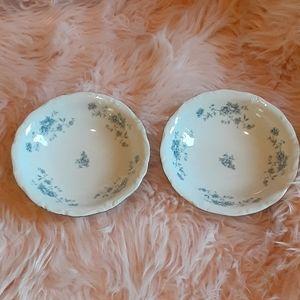 2 Blue Garland Johann Haviland Berry bowls Bavaria